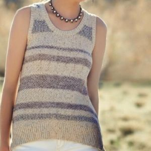 Anthro Sparrow Sleeveless Cross Back Sweater
